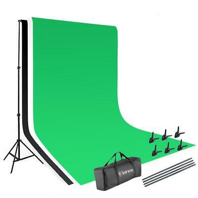 6.5x10FT Background Stand Photography Studio Lighting Kit with 3 Color Backdrop