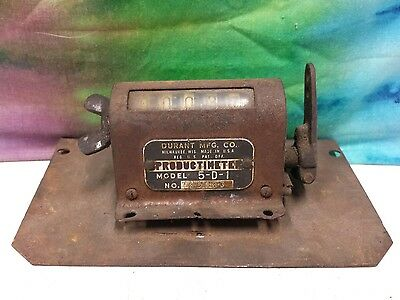 *vintage* Durant The Productimeter Industrial Counter Model 5-D-1