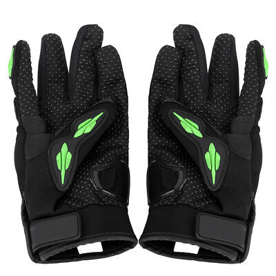 Motorbike Leather Full Finger Gloves Motorcycle Riding Protective Armor M/L/XL
