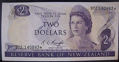 1975 New Zealand, Reserve Bank of,Two Dollars, Nice CU  ** FREE U.S SHIPPING **