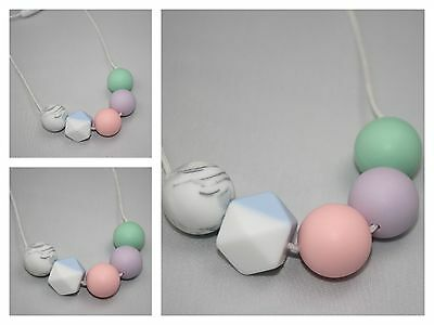 Silicone  Necklace for mum (was teething) pink sensory Baby Tapuu jewellery