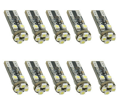 10x T10 360° LED Standlicht Xenon-Weiss Canbus 8 SMD Licht 12V HK Post