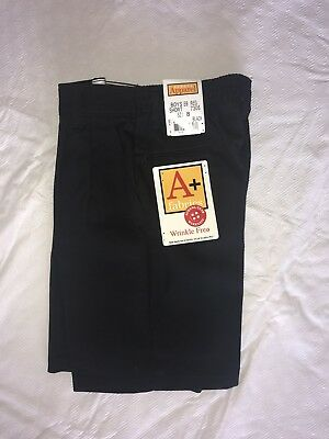 School Apparel Boys Uniform Black Shorts Nwt 5 6 8 14 16