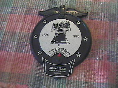 Vintage Advertising 1976 Eagle Dekalb Corn Plastic Dial Thermometer !!