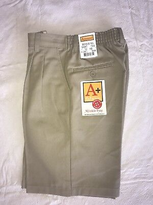 School Apparel Boys Uniform Khaki Shorts Nwt 5 6 7 8 16