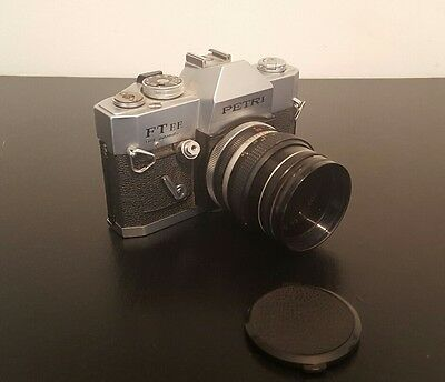 Vintage Petri FT EE 35mm SLR camera with Petri 55mm 1:18 Lens & Hoya Skylight 1b