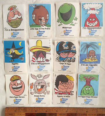 1970S Sunny Queen Eggs Promo Stickers Trading Cards Art By Weg Vgc To Eggcellent