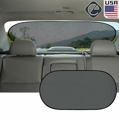 Auto Car Rear Window Sunshade Sun Shade Cover Visor Mesh Shield UV Block Protect