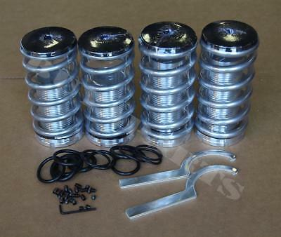 Silver Lowering Adjustable Coilover Coil Spring Kit For Honda Civic/CRX 88-91