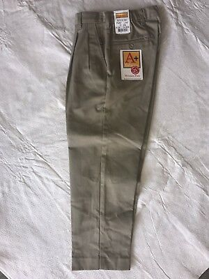 School Apparel Boys Uniform Pants Khaki Nwt 5 6 7 8 14, Husky 28