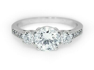 2.50 CT Womens Brilliant ROUND CUT Engagement Promise RING Gold Plated Size 6-9