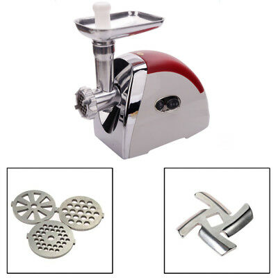 2000W Multifunctional Electric Meat Grinder Maker Red Small Household Appliances