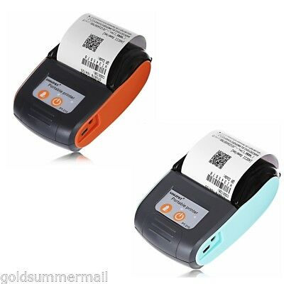 58MM Bluetooth Thermal Printer Wireless Receipt Machine for Windows Android iOS