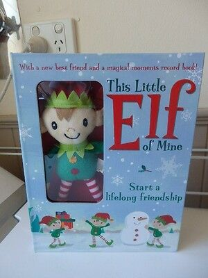 This Little Elf of Mine Elf & Book Gift Boxed NEW **Christmas Tradition**