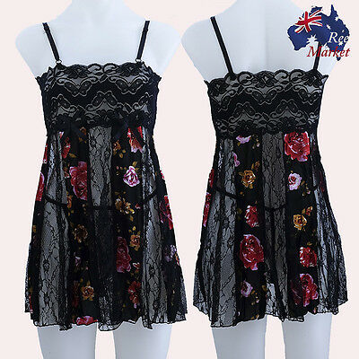 DIANA-WARE Black Ladies Chemise Set - Brand New w/ Tags - fits size 10-14