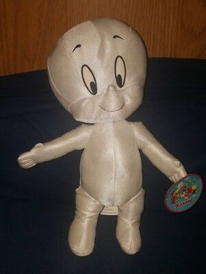 """Casper the Friendly Ghost Stuffed Plush New with Tags 2012 Harvey 13.5"""""""