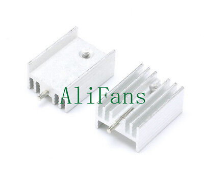 20PCS Aluminum Heat Sink Heat Sink 21x15x10mm TO-220 Transistors DIY