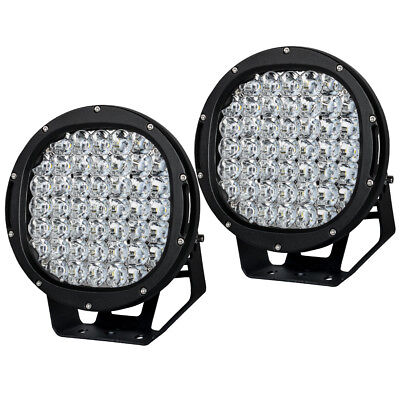 9990W 9inch CREE LED Driving Lights Round Off Road 4WD Red Spotlights 12V24V