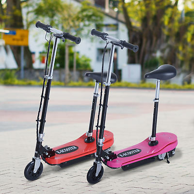 Kids Ride on Electric Scooter LED Portable Steel Lightweight Children Sport Toys