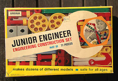 Lincoln International JUNIOR ENGINEER construction set No. 2 in box @ 3765