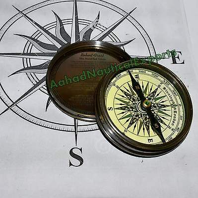 Nautical Brass Compass Poem Vintage Collectible - Antique Solid Brass Compasses