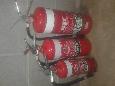 Fire Extinguishers X 3 Smaller Size Pick Up Only from Mosman,NSW.