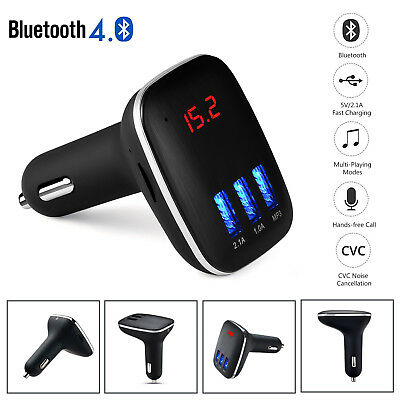 AUTO Bluetooth MP3 Lettore Trasmettitore FM USB Charger Kit Vivavoce Voltmetro
