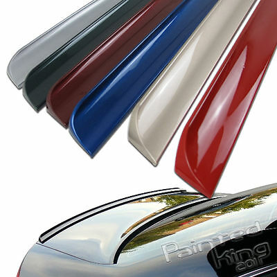Painted FOR Audi A4 B8 S-Type 4DR Trunk Boot Lip Spoiler Wings PUF 2009-2012