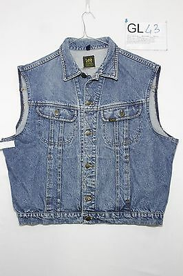 Gilet Lee Riders jeans Uomo usato (Cod.GL43) Tg L  vintage
