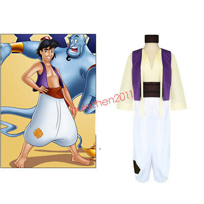 Disney Animation Aladdin's lamp Prince Aladdin Costume Men Full Set Cosplay