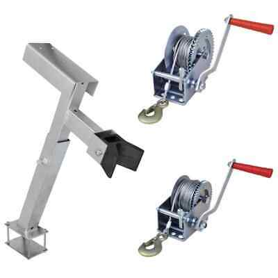 Strap Cable Hand Winch Stand Bow Support Manual Car Boat Trailer Camper