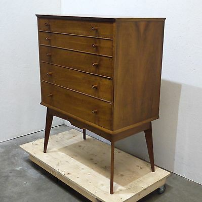 Stunning Mid Century Handcrafted Graduated Chest of Five Drawers (73)