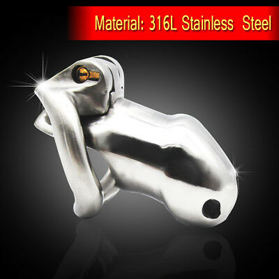 Male 316L stainless steel Luxury Honorable Chastity Device Small Size A256