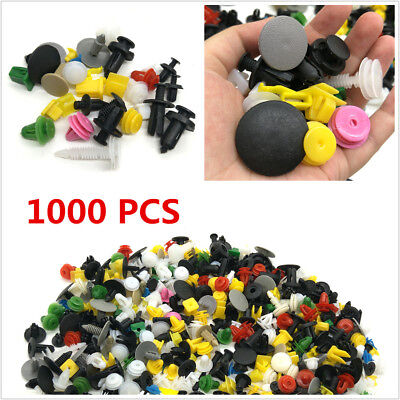1000X Car Door Panel Trim Fenders Bumper Rivet Retainer Push Pin Clips Mixed