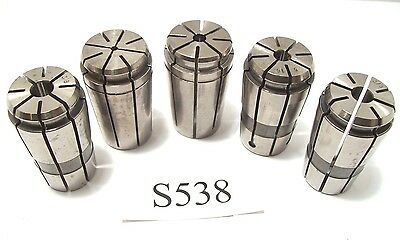 5 Pc. Tg100 Collets 1/8, 1/4, 5/16, And 3/8(2) Kennametal Lyndex & ? Tg 100 S538