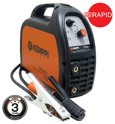 Kemppi Minarc 150 Arc Welder with 3m Arc Cable Set, 230v, 3 Year Warranty