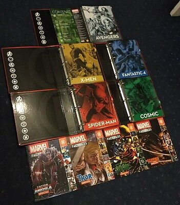 Eaglemoss Marvel Fact Files Issues 1-59 Magazine 5 Folders & 4 Specials Bundle
