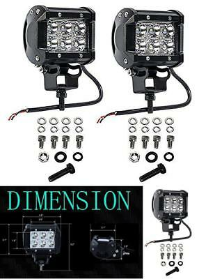 2Pc Led Light Marine For Boat Car Spreader Mast 18W Cree White Deck Pontoon Spot