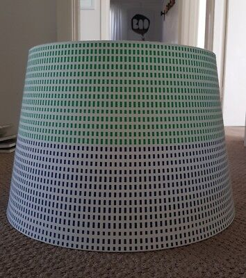 Ikea large lamp shade, excellent used condition, white, blue and green