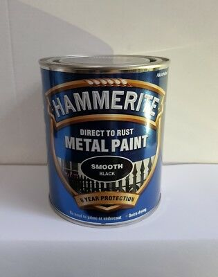 Hammerite Direct To Rust Metal Paint (750Ml) Black, White, Gold & Silver