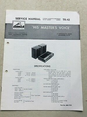 Service Manual TK-42 his masters voice