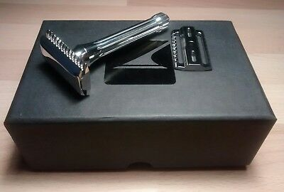 Blackland Safety Razor With Open Comb Base Plate. Mirror Polished Finish!