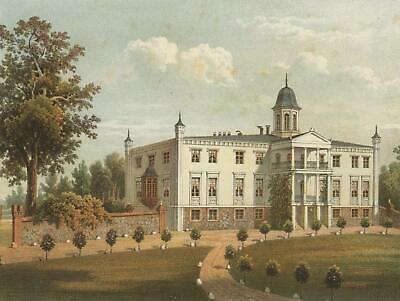 STREMLOW (Tribsees) - Gutshaus - Duncker - Farblithographie 1868
