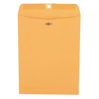 "Universal Clasp Envelope Side Seam 28lb 9"" x 12"" Kraft 100ct. 35264 BRAND NEW"