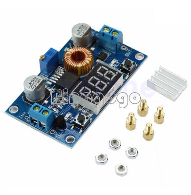 5A Adjustable Power CC/CV Step-down Charge Module LED Driver Voltmeter Ammeter