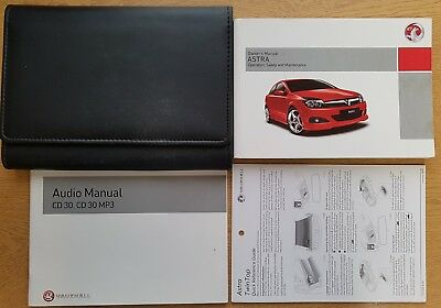 vauxhall astra h owners manual handbook wallet audio 2005 2010 pack rh picclick co uk
