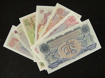 British United Kingdom Armed Forces Note A Lot of 7 Pieces UNC