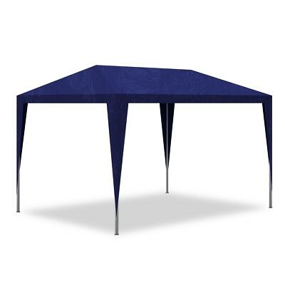 S# Outdoor 3x3m Party Tent Blue Gazebo Marquee Folding Canopy Wedding BBQ Shade