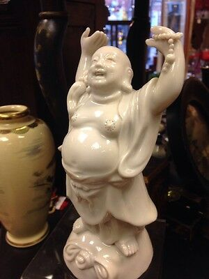 "Stunning Antique Chinese Blanc De Chine Buddha Figurine . Approx 8/9"" Tall."