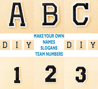 Letters A-Z Embroidered Alphabet Numbers DIY Iron On / Sew On Slogan Names Patch